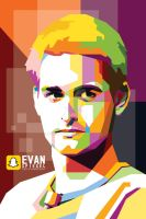 Evan Spiegel, CEO Snapchat in WPAP by duniaonme