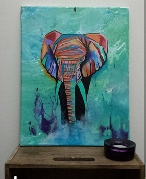 Elephant Acrylic by TheJennaBrown