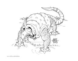 Ghar (the Armored River Monster) by JeffDee
