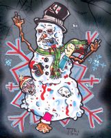 That's one bad snowman by DorkZombie