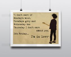 The Cure - 'Friday I'm in Love' by Posteritty