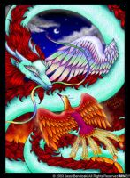 Dragon and Phoenix by benwhoski