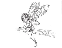 Dragonfly fairy - inked by Doodlebotbop