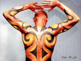 Body-painting exhibition Back by mocorock