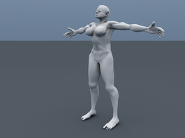 Female 3D Model by BenHinman