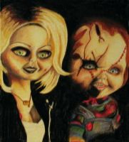 Chucky and Tiffany by misery-loves-tragedy