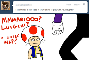 Ask Toad - Waluigi by pocket-arsenal