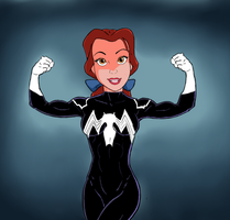 Symbiote Belle  Superior Strength by DeathStrokeAC