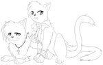 Cats sketch by Ra1-x3