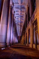 Purple Columns by Manbehindthelens