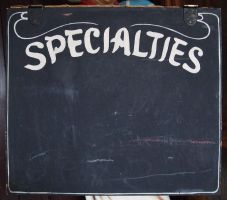 Specialities Chalk Board by Limited-Vision-Stock