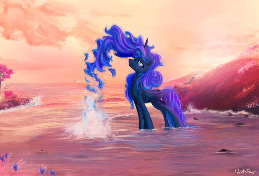 Lunar Swimming by 1deathPony1