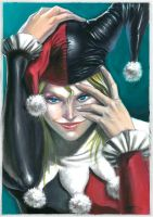 harley quinn color by LucaStrati