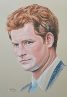 Prince Harry Windsor full portrait 'Heforshe' by Andromaque78