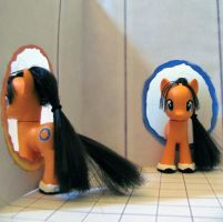 Chell Pony Custom by NocturnalEquine