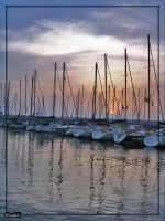 The marina of Herzliya. by Ashii