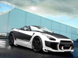 nissan gtr white by backo-designs