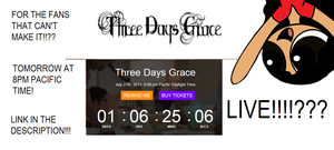 CALLING ALL THREE DAYS GRACE FANS(Closed) by Butchercup34