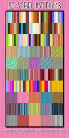 50 Stripe Patterns by HGGraphicDesigns
