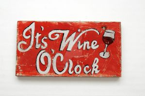 It's Wine O'Clock wooden sign by SchumArt