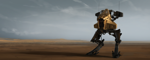 Desert Probe Mech by JoshEiten