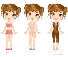Print out paper doll by Melisendevector