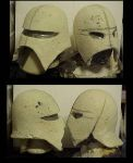 Halloween Goblin Helmets...WIP by Pirkleations