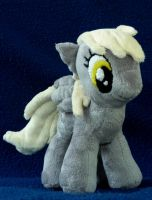 Derpy Plushie: Dark Background by iSmartMan