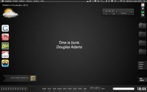 Black OS X Desktop - Dragthing by XLooo