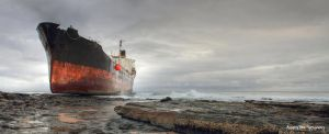 The Phoenix, aground-Sheffield Beach South Africa by AnthonyWest