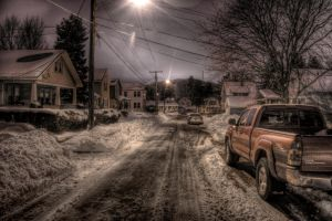 Red Truck at Night by slacovdael