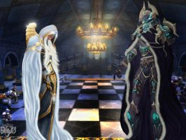 The White and Black Queen - Chess by AleskiaS