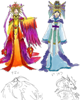 Possible Costumes colored by SirLadySketch