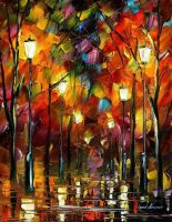 Land of happyness by Leonid Afremov by Leonidafremov