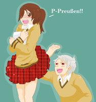 Prussia x Abigale - Skirt Flip by isuckair