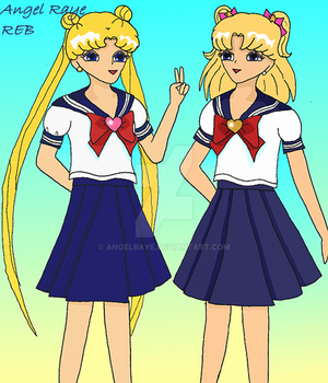 Usagi and Ashley by AngelRaye