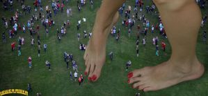 Giantess Katherina crowd by lowerrider