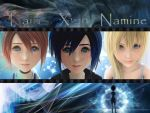 kingdom hearts Kairi xion and namine by LumenArtist