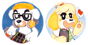 AnimalCrossing Pups by CritterKat