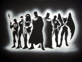 JUSTICE LEAGUE AIRBRUSHED by javiercr69