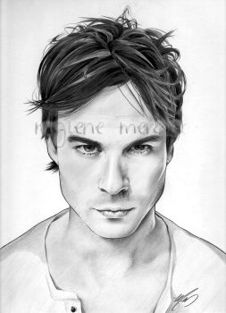 Ian Somerhalder by inyourfacemakeupart