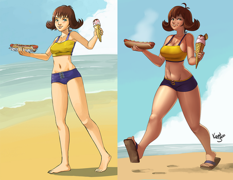 Selphie Comparison by kevinsano