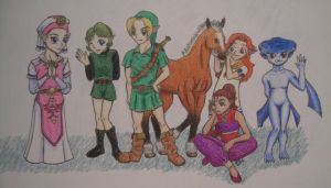 Ocarina of Time Kids by DarthJader11