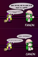 Sleeping Terror: Fanon VS Canon by exfodes