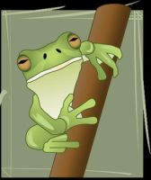 Frog On a Branch by holtn01