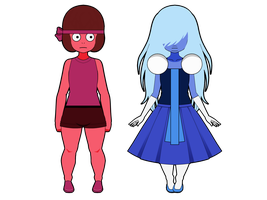 Ruby and Sapphire (Exports available) by RoseKouiya