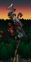Commission: Hobo chopping :D by GreenLiquidBrain