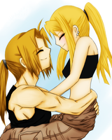 Ed + Winry - Lucky by Wolfs-Angel17