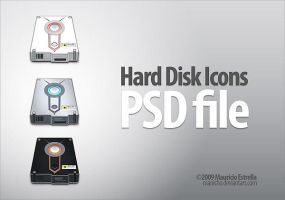 Hard Disk Icons - PSD by mauricioestrella