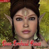 Elven Forehead Pieces For Any Figure by emmaalvarez